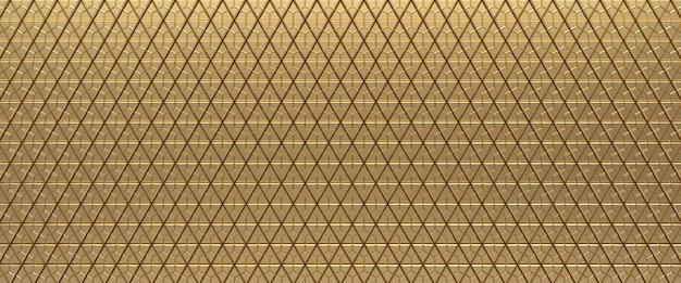 Fond de texture abstraite triangulaire carrelé or. surface des triangles. rendu 3d.