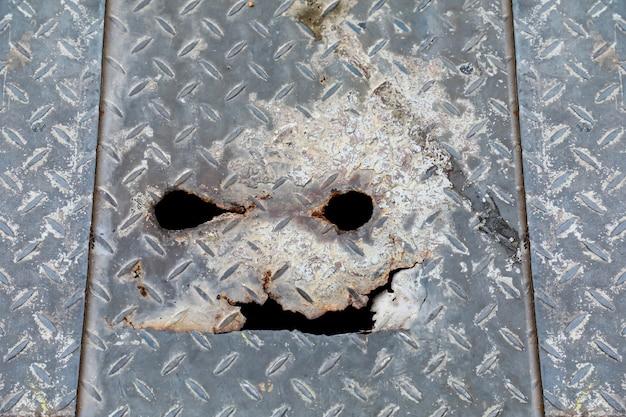 Fond de texture en acier spooky
