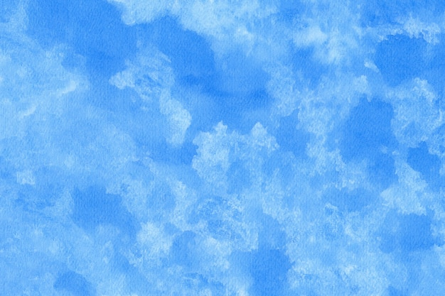Fond de texture aquarelle abstraite bleue