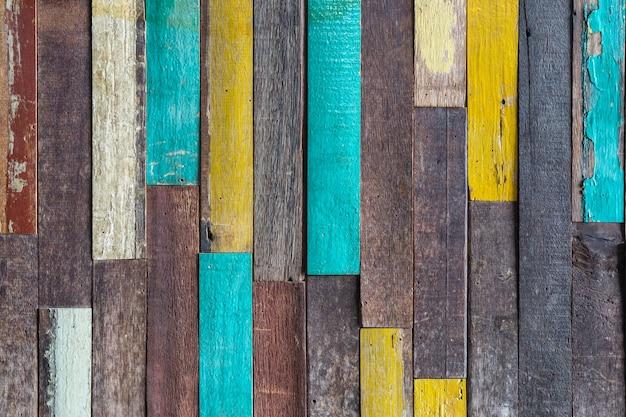 Fond de texture bois coloré grunge