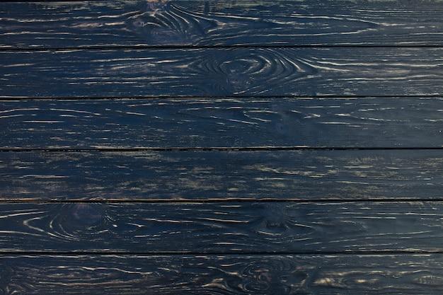 Fond de texture bois noir foncé vu d'en haut.