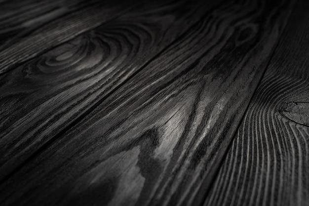 Fond de texture en bois noir