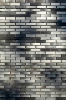 Fond de texture de brique en céramique gris foncé