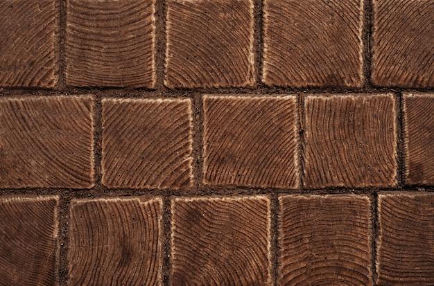 Fond de texture de briques brunes tuile