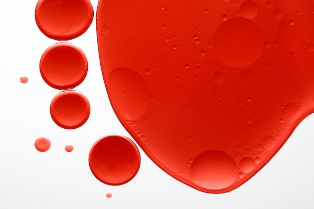 Fond de texture de bulle d'huile abstrait rouge
