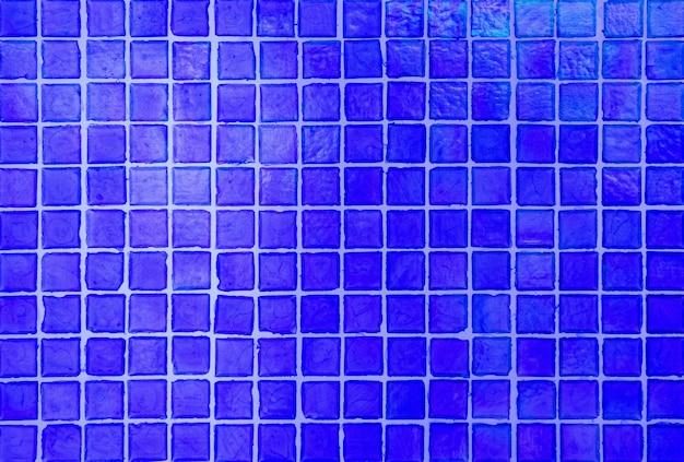 Fond de texture de carreaux de mosaïque bleue