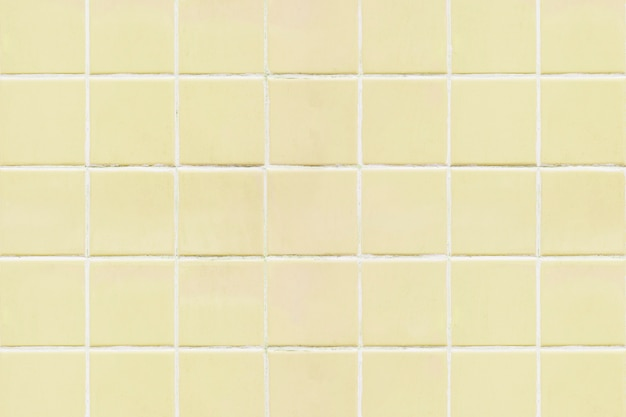 Fond de texture carrelée carré jaune