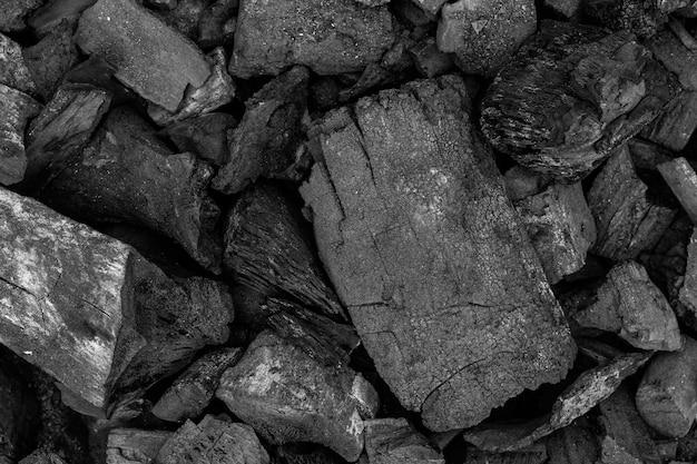 Fond de texture de charbon de bois noir