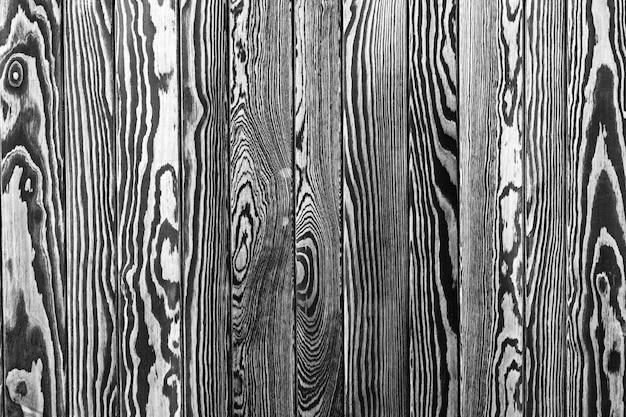 Fond de texture de clôture en bois rustique, coloration noire et blanche semblable à un zèbre