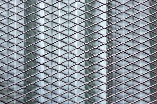 Fond de texture de clôture métallique