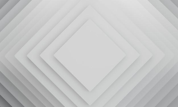 Fond de texture de couleur blanche géométrique abstraite. rendu 3d.