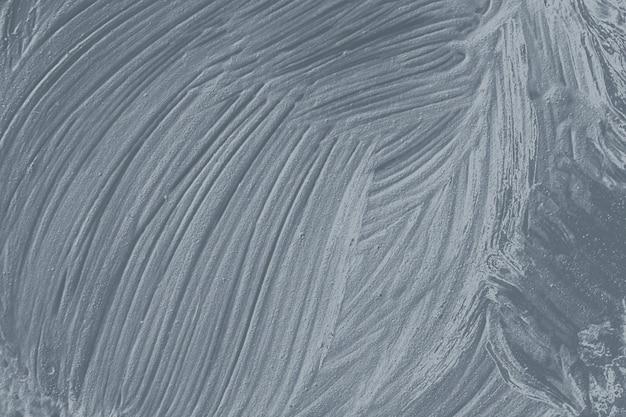 Fond texturé de coup de pinceau de peinture à l'huile d'argent
