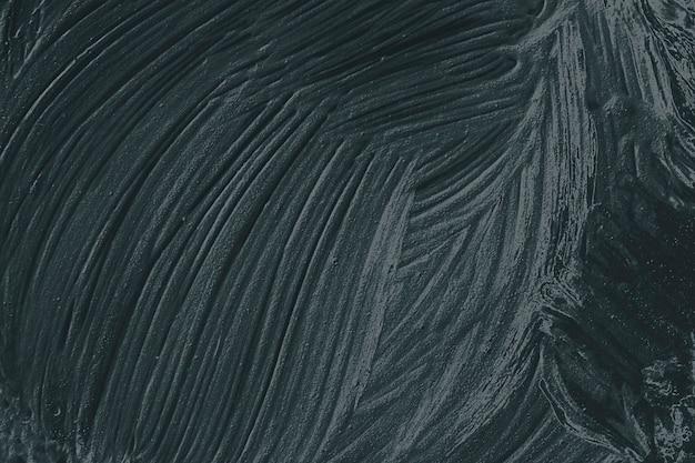 Fond texturé de coup de pinceau de peinture à l'huile noire