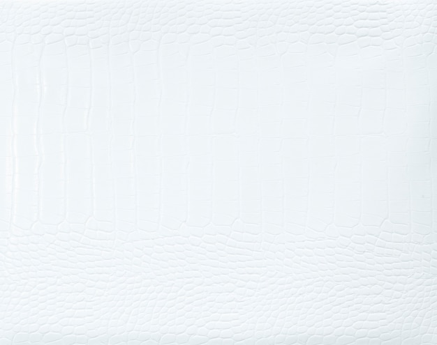 Fond texturé en cuir blanc uni