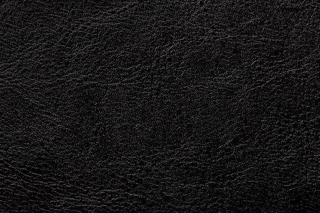 Fond de texture cuir encre noire, gros plan. fond craquelé noir de la peau des rides