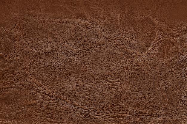 Fond de texture en cuir marron foncé