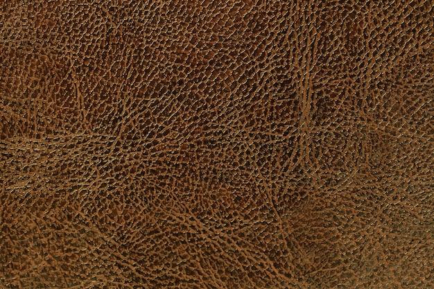 Fond de texture cuir marron laqué