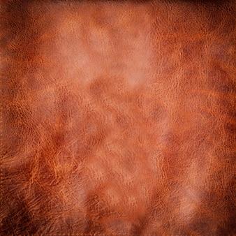 Fond ou texture en cuir marron naturel avec vignette