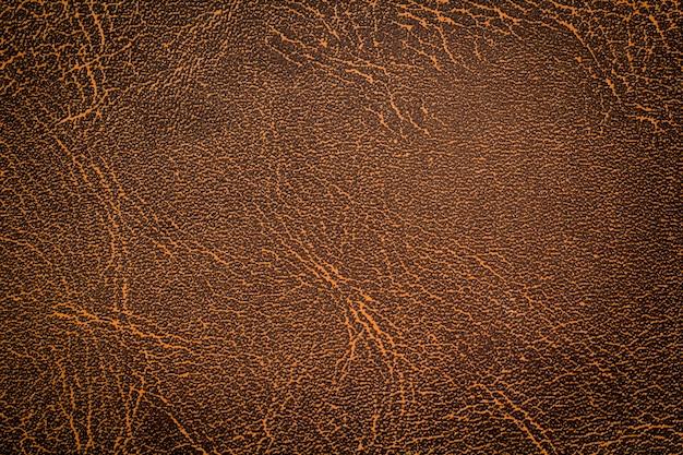 Fond de texture de cuir marron naturel