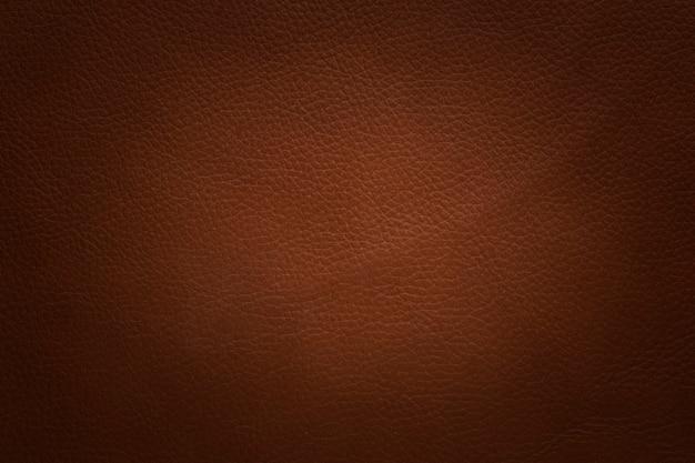 Fond de texture de cuir marron d'origine