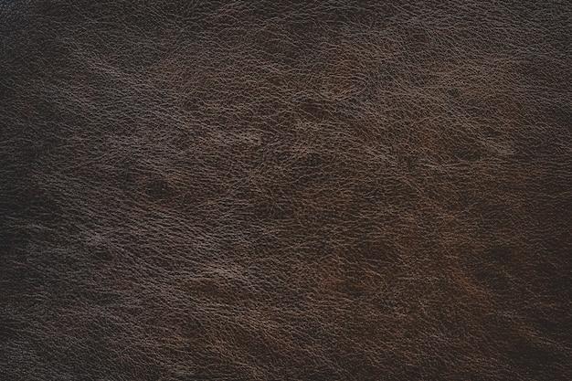 Fond de texture en cuir marron simple avec dégradé de lumière utilisé comme toile de fond classique de luxe