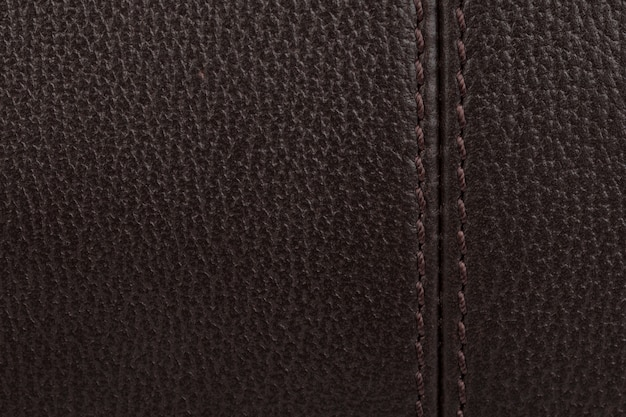 Fond de texture de cuir naturel marron foncé