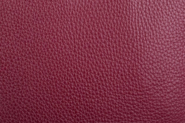 Fond de texture de cuir naturel rouge