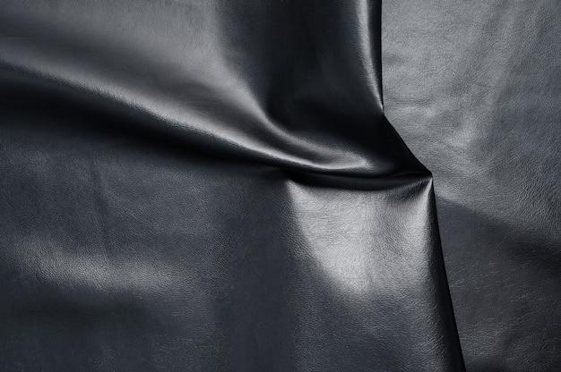 Fond de texture de cuir noir abstrait