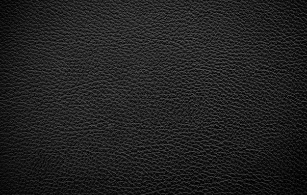 Fond de texture de cuir noir de luxe