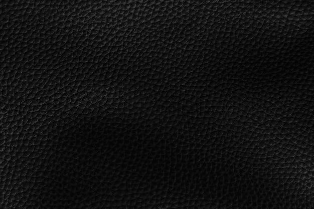 Fond texturé en cuir noir