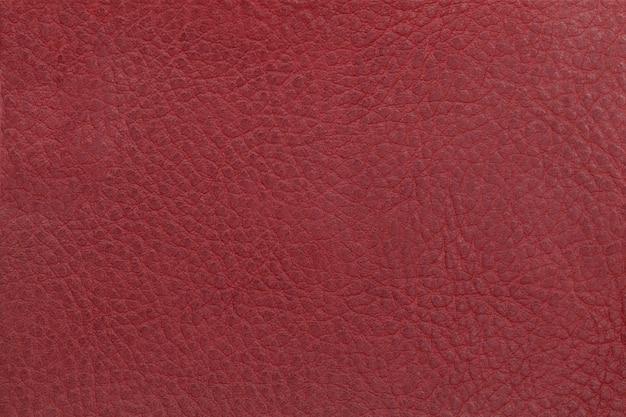 Fond de texture de cuir rouge vif