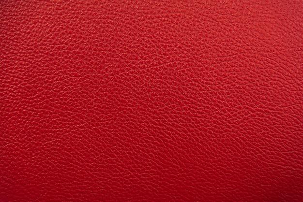 Fond de texture de cuir rouge.