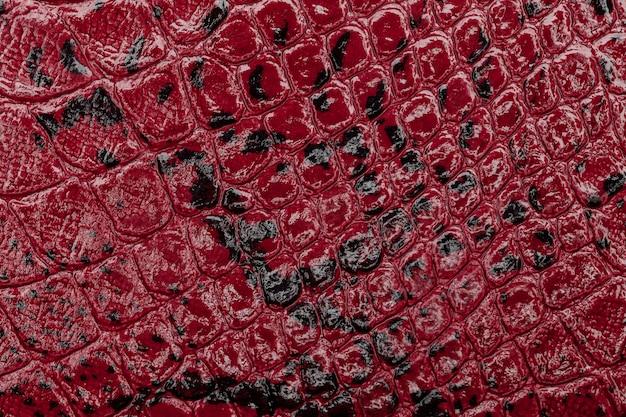 Fond de texture de cuir rouge