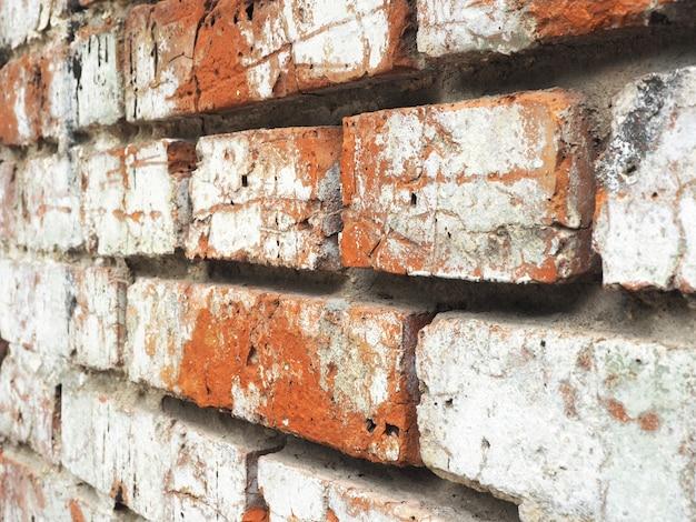 Fond et texture du vieux mur de briques avec minable.