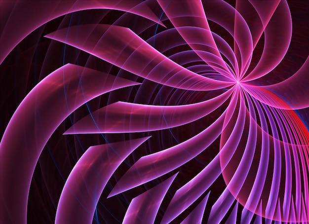 Fond texturé dynamique de couleur abstraite avec effet d'éclairage. spirale fractale. art fractal