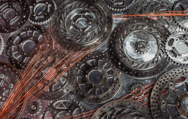 Fond de texture engrenage en métal.