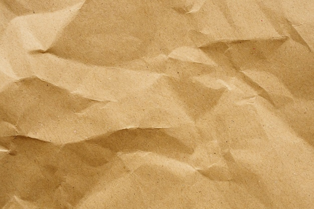 Fond de texture de feuille kraft recyclé papier froissé brun