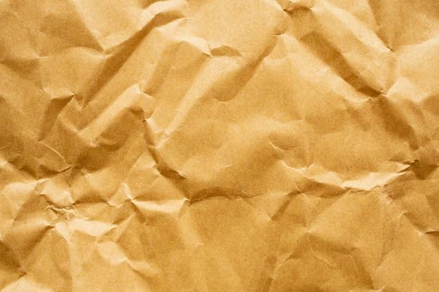 Fond de texture de feuille kraft recyclé papier froissé marron