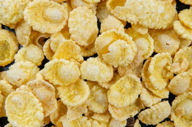 Fond et texture de flocons de maïs