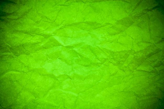 Fond de texture froissé papier vert.