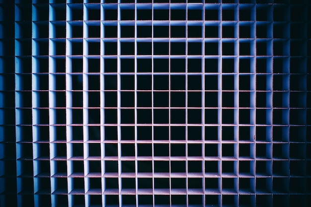 Fond de texture de grille métallique vague rétro