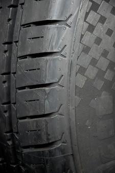 Fond de texture gros pneu.