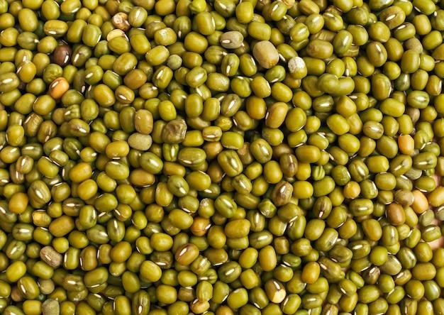 Fond de texture de haricots mungo vert