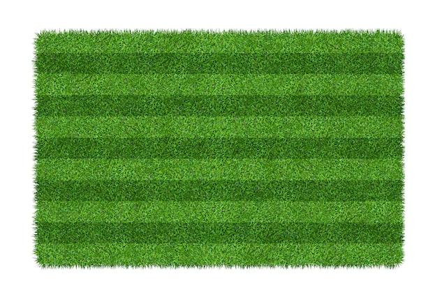 Fond de texture d'herbe verte pour les sports de football et de football. modèle de terrain d'herbe verte et texture isolé sur fond blanc.