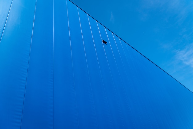 Fond de texture industrielle bleu métallique