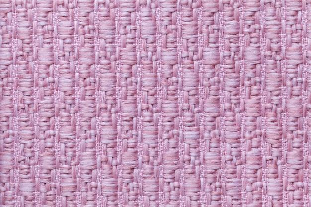Fond de texture en laine tricoté rose