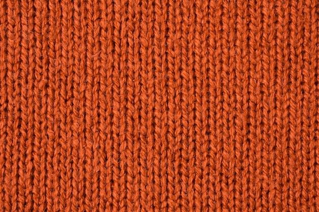 Fond de texture de laine tricotée marron