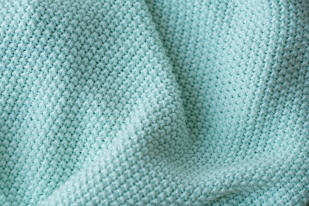 Fond de texture de laine à tricoter menthe