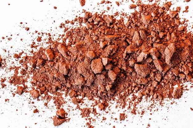 Fond de texture macro poudre de cacao