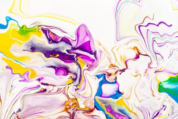 Fond de texture marbrée abstraite vibrante violet et jaune